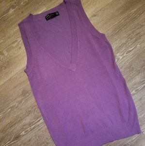 Nwot Zara purple sweater vest size medium